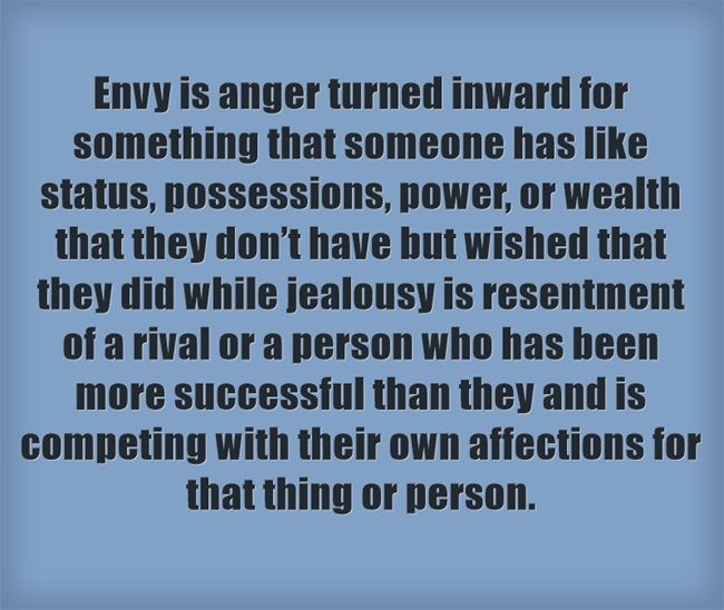 Difference between envy and jealous