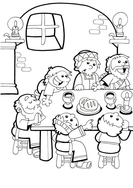 Coloring page Cain and Abel | Coloring - Bible | Pinterest ...