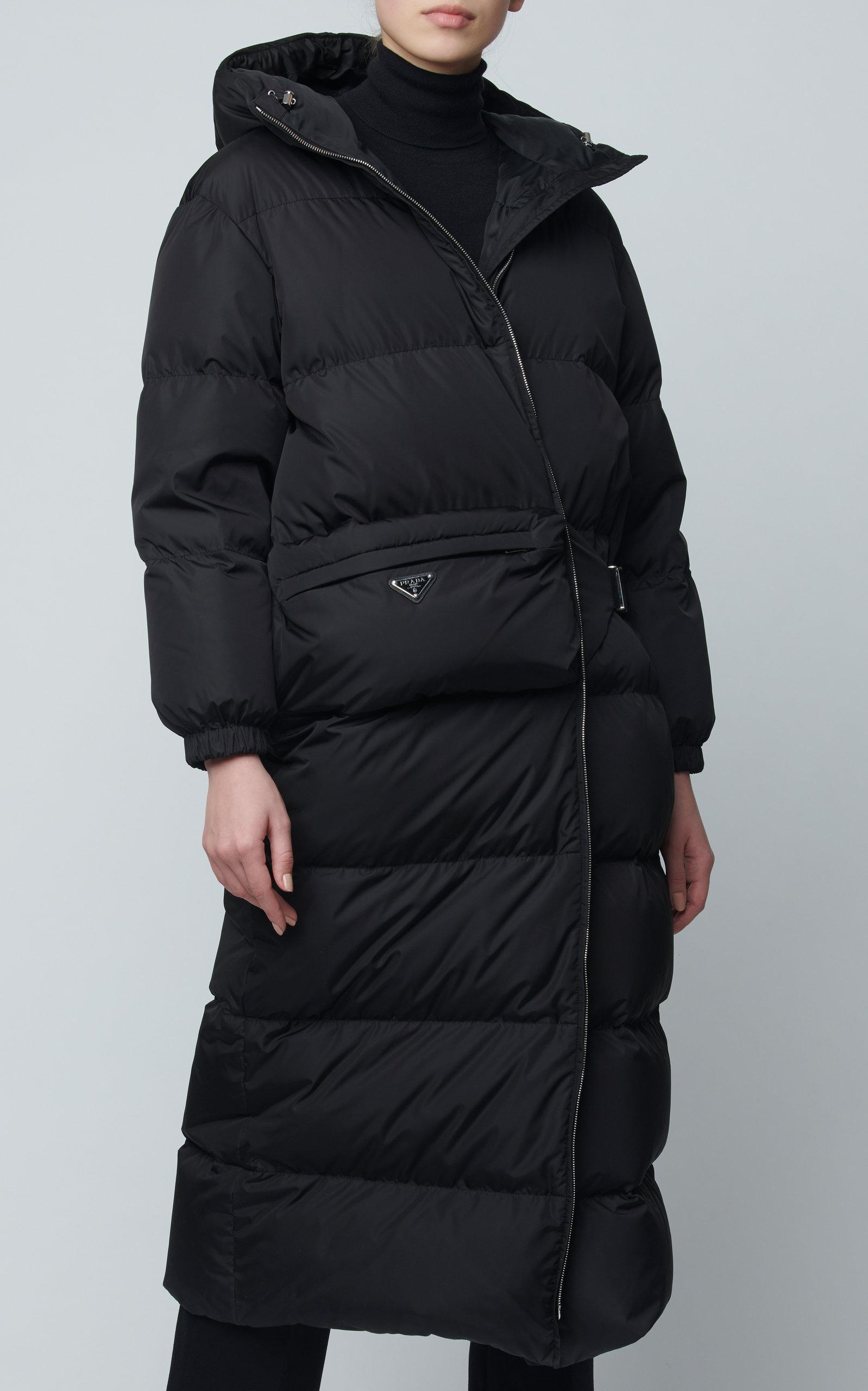 Prada Hooded Quilted Shell Down Coat Ladies Coat Design Down Coat Coat Design [ 2560 x 1598 Pixel ]