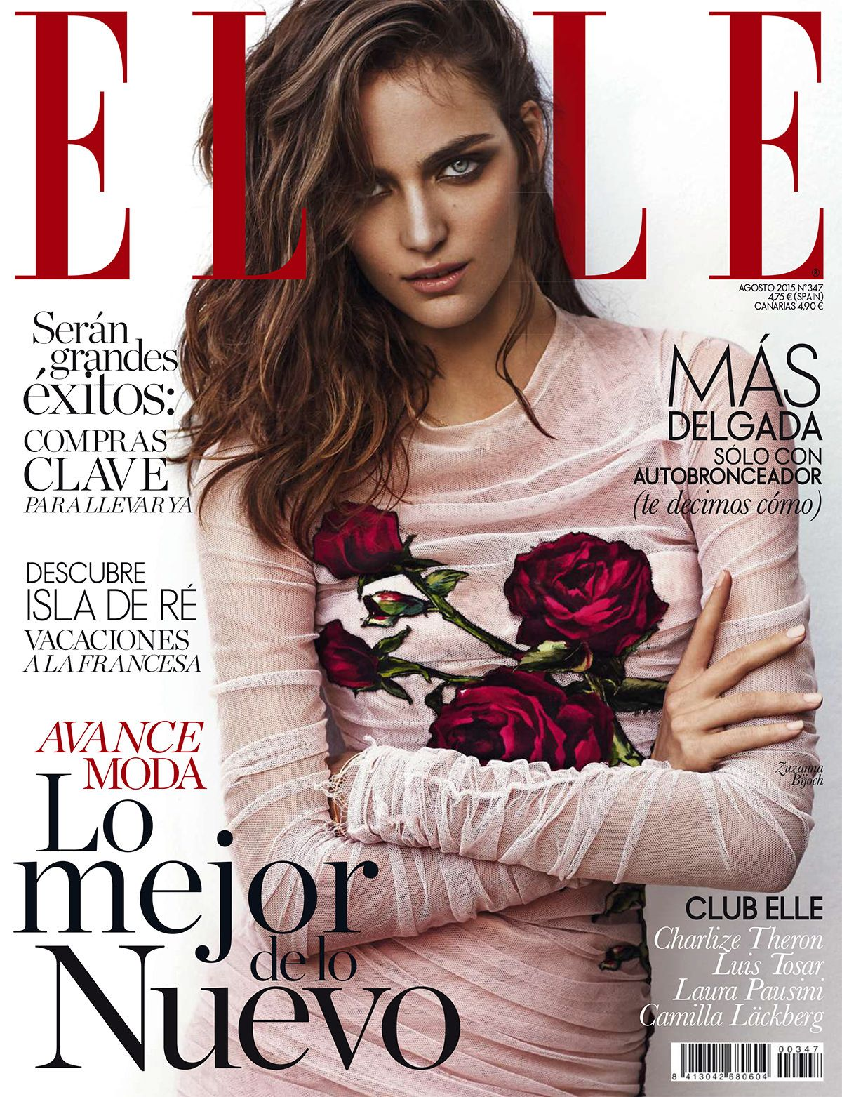 cool Zuzanna Bijoch is pretty in Dolce & Gabanna for Elle España August 2015 Cover [Models]