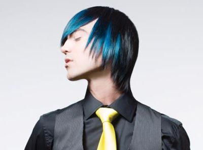 Blue Highlights With Chi Chromashine Color Men Hair Color Hair Color Unique Hair Color Pastel