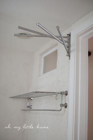 タオルハンガー Ikea インテリア 収納 バスルーム 収納 アイデア タオル 収納 アイデア