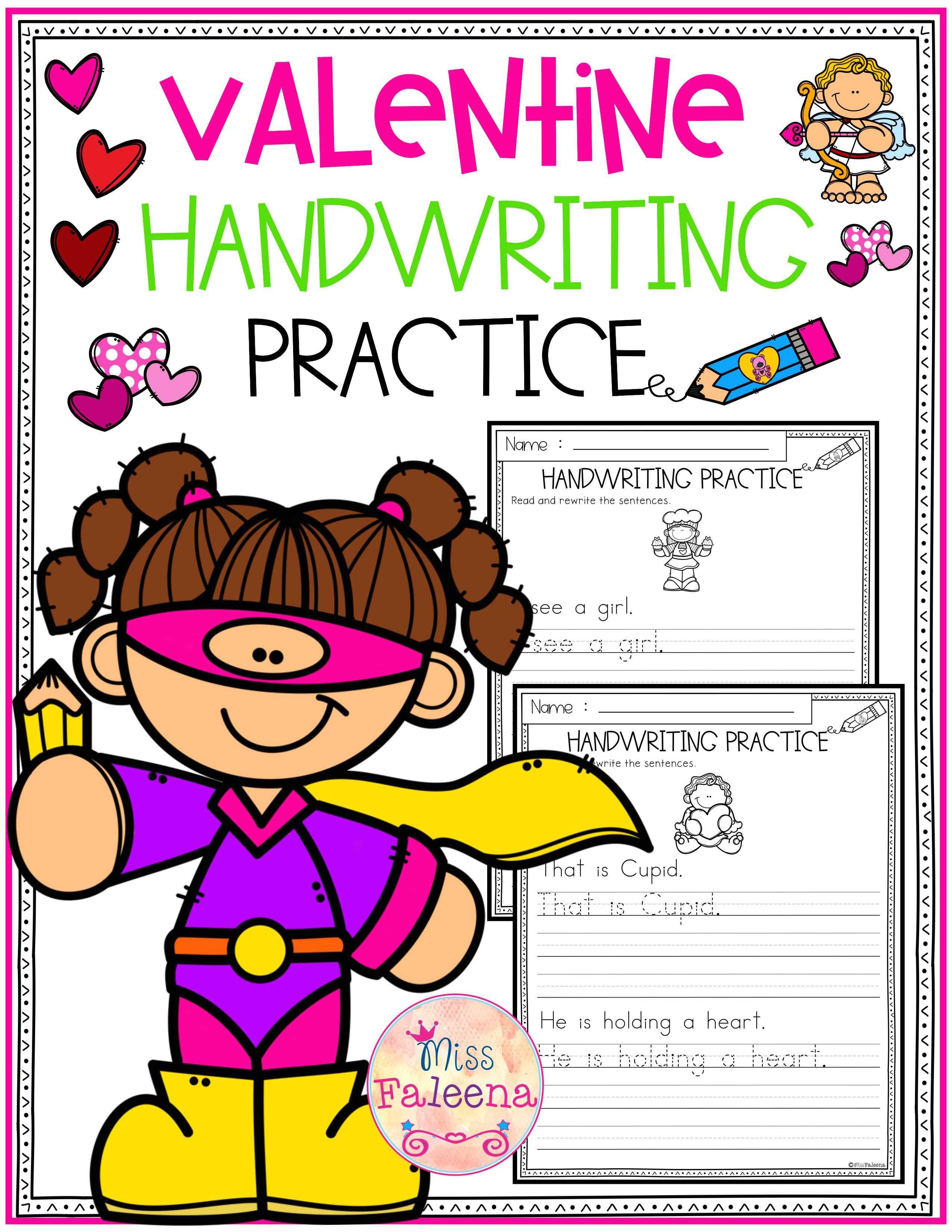 Valentine S Day Handwriting Practice