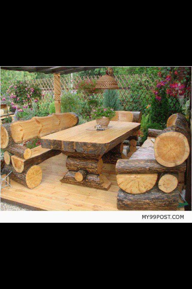 Log Patio Set