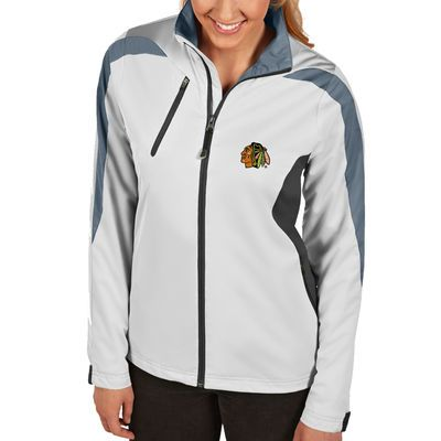 Women S Chicago Blackhawks Antigua White Discover Full Zip Jacket Zip Jackets Jackets White Jacket