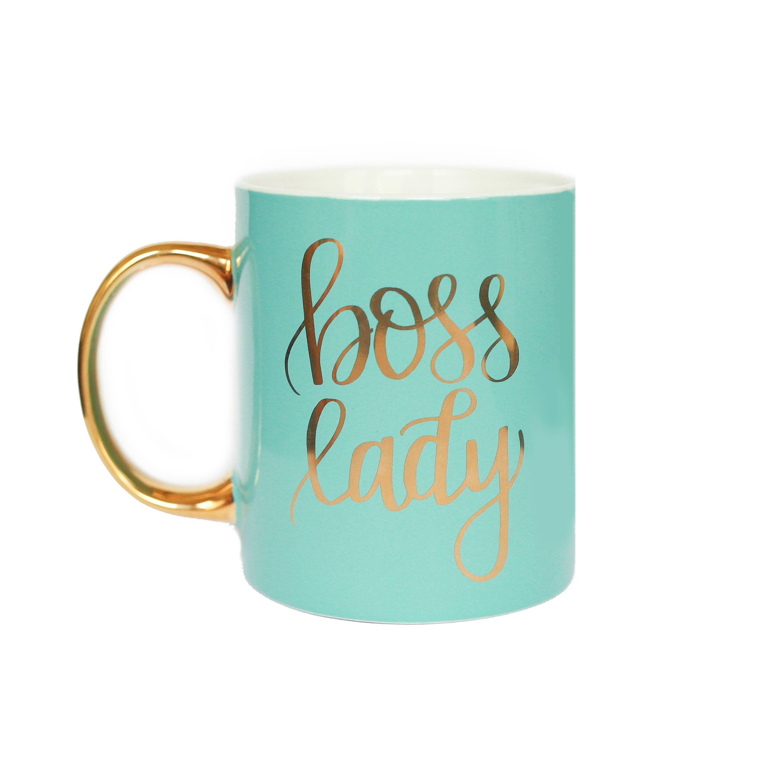 Mint Boss Lady Mug Gold Coffee Mug Gift For Her Gift For Boss Coffee Mug  Tea Cup Girl Boss Babe Motivational Coffee Mug Chic Office Decor By  Sweetwaterdecor ...
