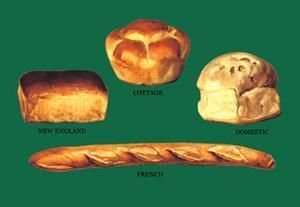 Art Print New England Cottage Domestic And French Breads DB-27128