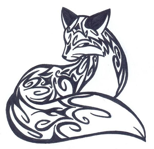 Animal Tattoos Fox Fox Tattoo Design Tribal Drawings Tribal Fox