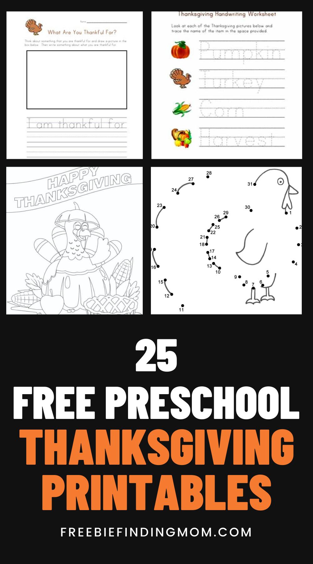 25 Free Preschool Thanksgiving Printables Freebie Finding Mom Thanksgiving Preschool Free Preschool Thanksgiving Activities Preschool [ 1800 x 1000 Pixel ]