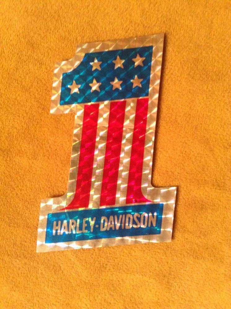 Vintage Harley Davidson 1 Prism Decal Sticker Ebay Harley Davidson Stickers Vintage Harley Davidson Harley Davidson