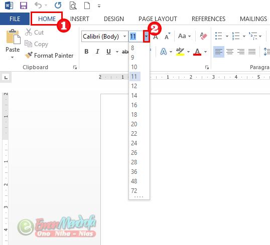 Tips Memperbesar Dan Memperkecil Ukuran Huruf Di Word Dengan Shortcut Keyboard Huruf Pengukur Keyboard