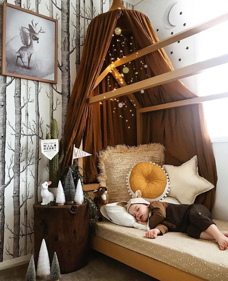 Cute woodland kids decor - #Cute #Decor #Kids #woodland #kleinkindzimmer