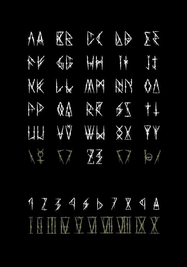Font tattoo metal black Tattoo Fonts