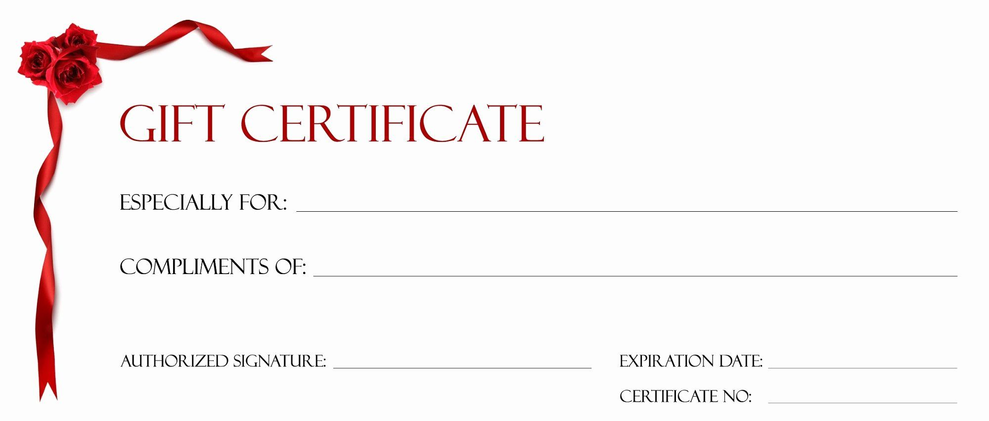 Free Printable Free Printable Gift Certificates Pictures 2