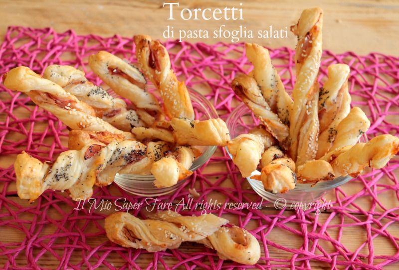 torcetti di pasta sfoglia salati idee sfiziose per antipastibuffet e aperitivi sono stuzzichini - Idee Buffet Facile
