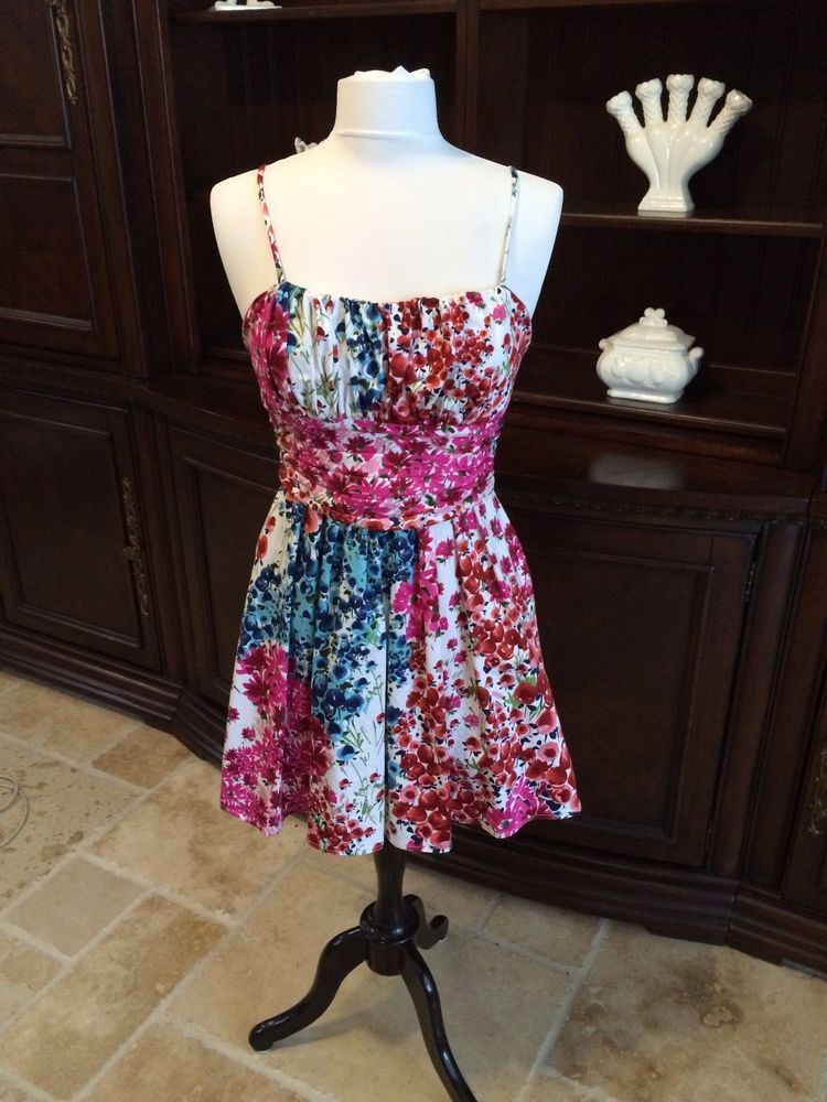 Perfect for Spring & Summer Alyn Paige Watercolor, floral sundress, size 7 #AlynPaige #Sundress #SummerBeach