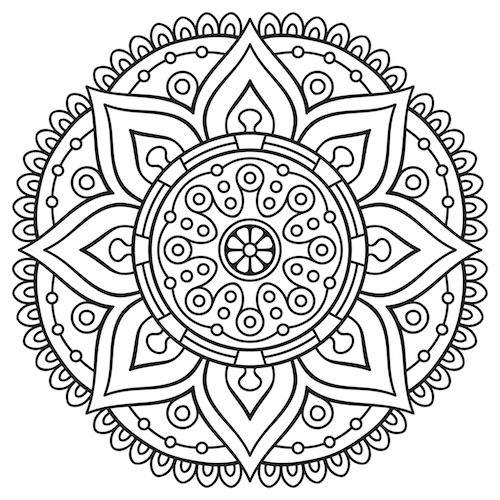 mandala coloring pages - Simple Mandala Coloring Pages Kid