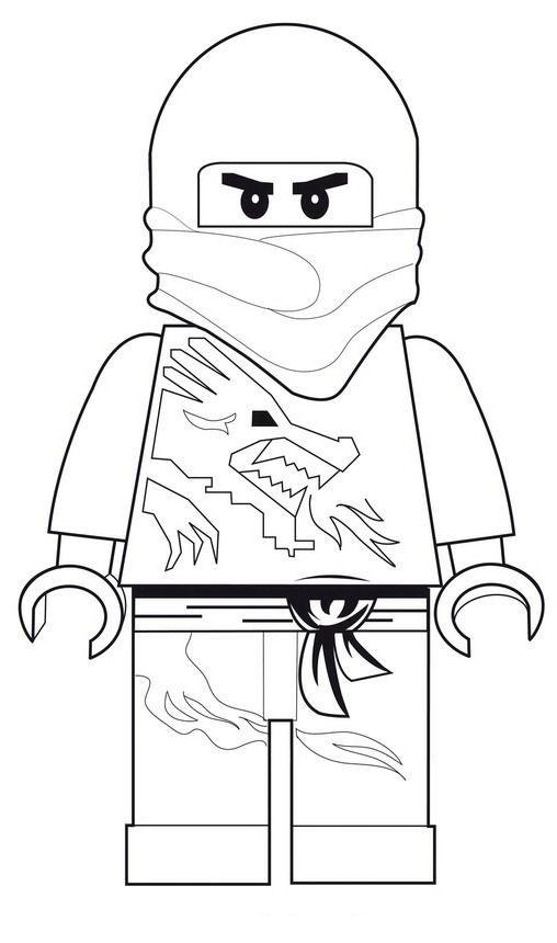 Coloring Page Lego Ninjago Lego Ninjago Caricaturas Para Pintar