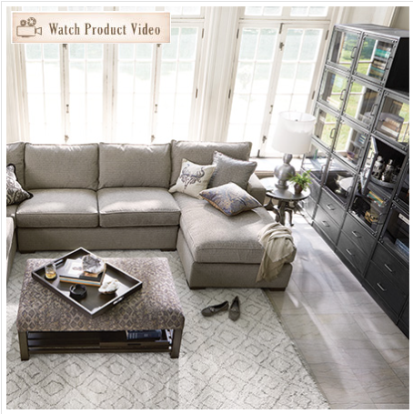 Merveilleux Arhaus Dune Sectional In Theatre Gunsmoke