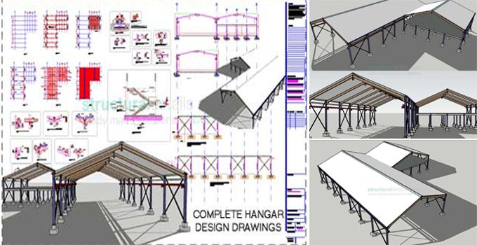 Get the complete design drawings of CAD dwg,dxf and pdf Steel Frame