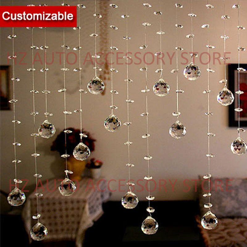 Livraison gratuite 10 brins lot, cristal Perles Brin Rideau pour la