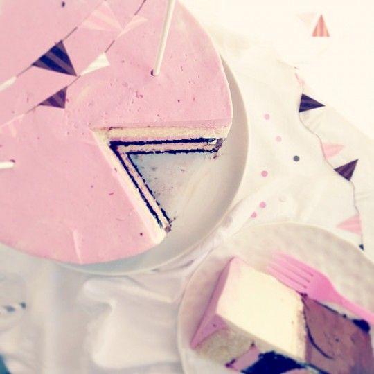 Raspberry Neapolitan Party Cake