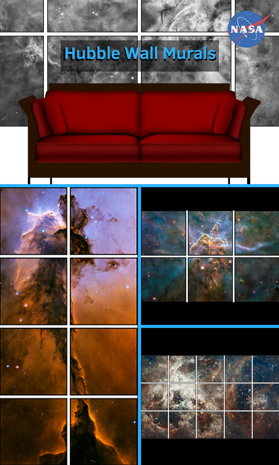Printable Hubble Wall Murals Turn A Wall Into A Picture Window On A