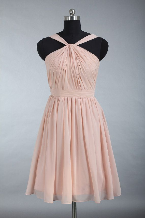 Junior Bridesmaid Dress Knee Length Pearl Pink by harsuccthing ...
