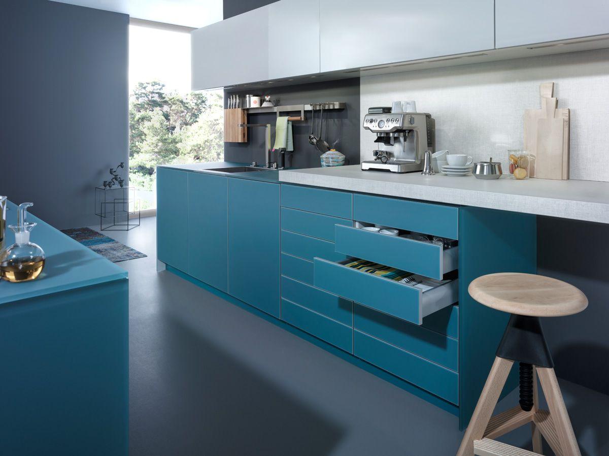 Retro Design Keuken : Wildhagen moderne greeploze lades met betonnen werkblad. www