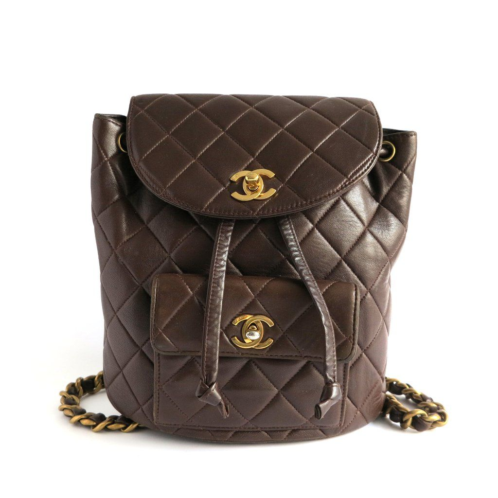 22efc1c54ddf Authentic CHANEL Small Vintage Timeless Backpack in Brown Lambskin from  Dearluxe.com | Preloved Luxury Handbags and Accessories | Designer Fashion  ...
