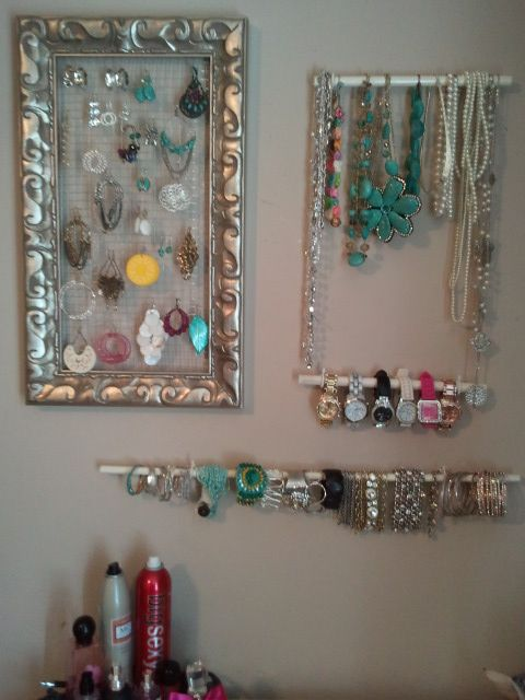 Easy do it yourself wall jewelry display my pinterest projects easy do it yourself wall jewelry display solutioingenieria Images