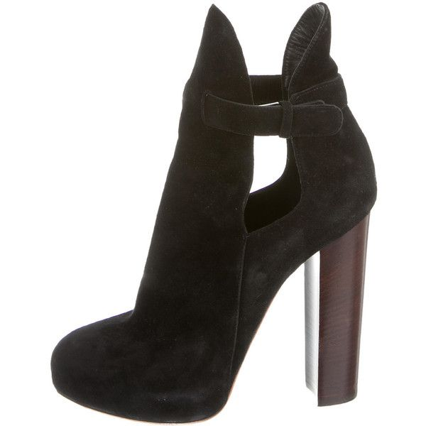 Céline Suede Round-Toe Booties visa payment cheap online DDcWRzd3