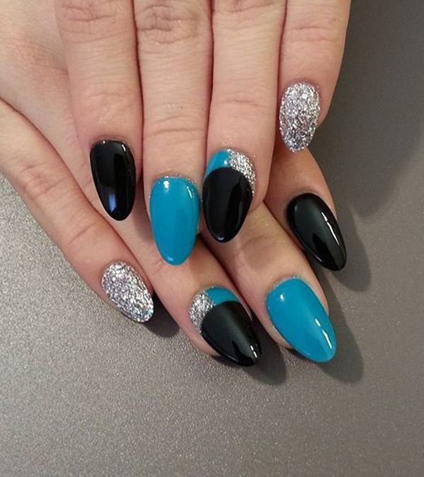 40 Gorgeous Crescent Moon Nails Pinterest Moon Nails Turquoise