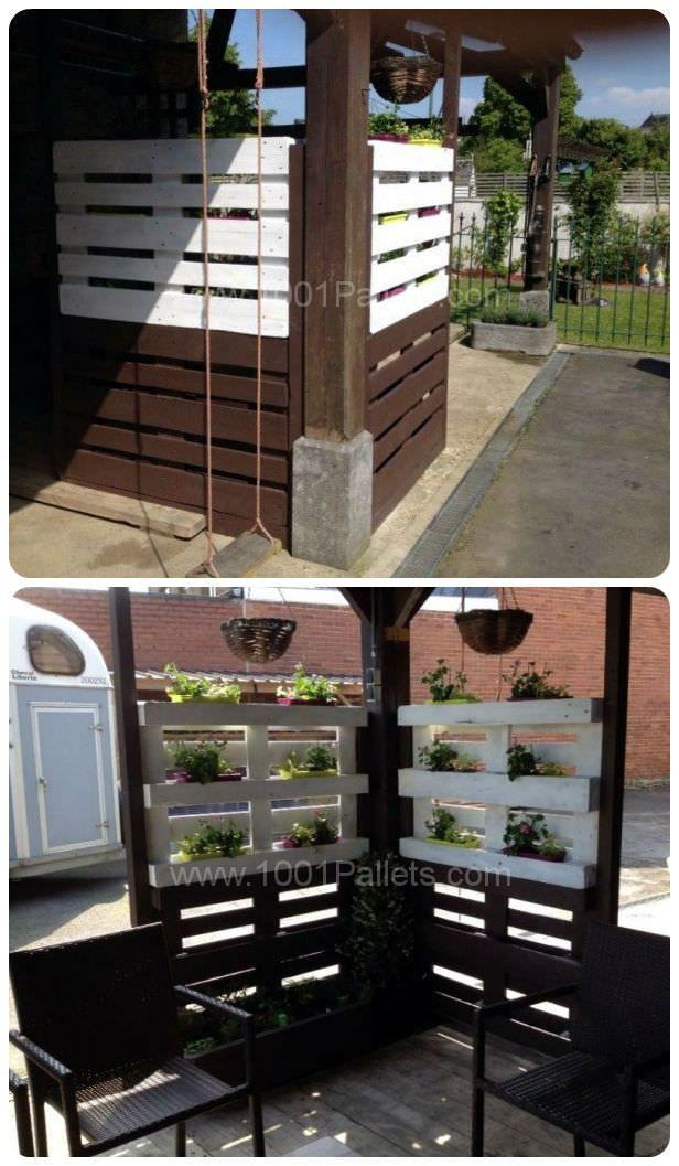 pallet wall shades planter parkett sichtschutz und palette wein. Black Bedroom Furniture Sets. Home Design Ideas