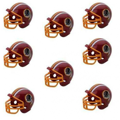 Washington Redskins NFL Helmet Party Kit www.teeliesfairygarden.com Let your fairies enjoy a football game with this helmet party kit! This set includes 16 helmets of the Washington Redskins enough for all of your fairies and gnomes. #fairyhelmets