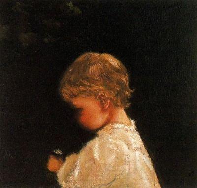 huariqueje:  Portrait of an Infant  - Lilla Cabot Perry Impressionism