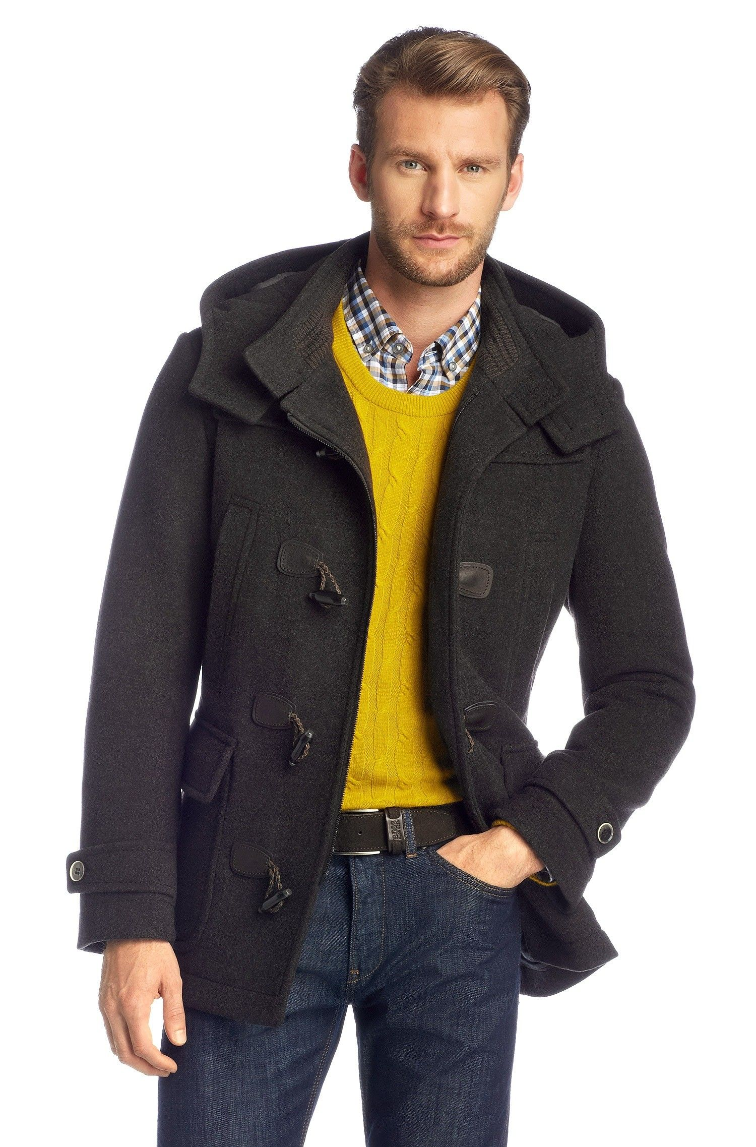 Wool/cashmere duffle coat 'Capez' by BOSS