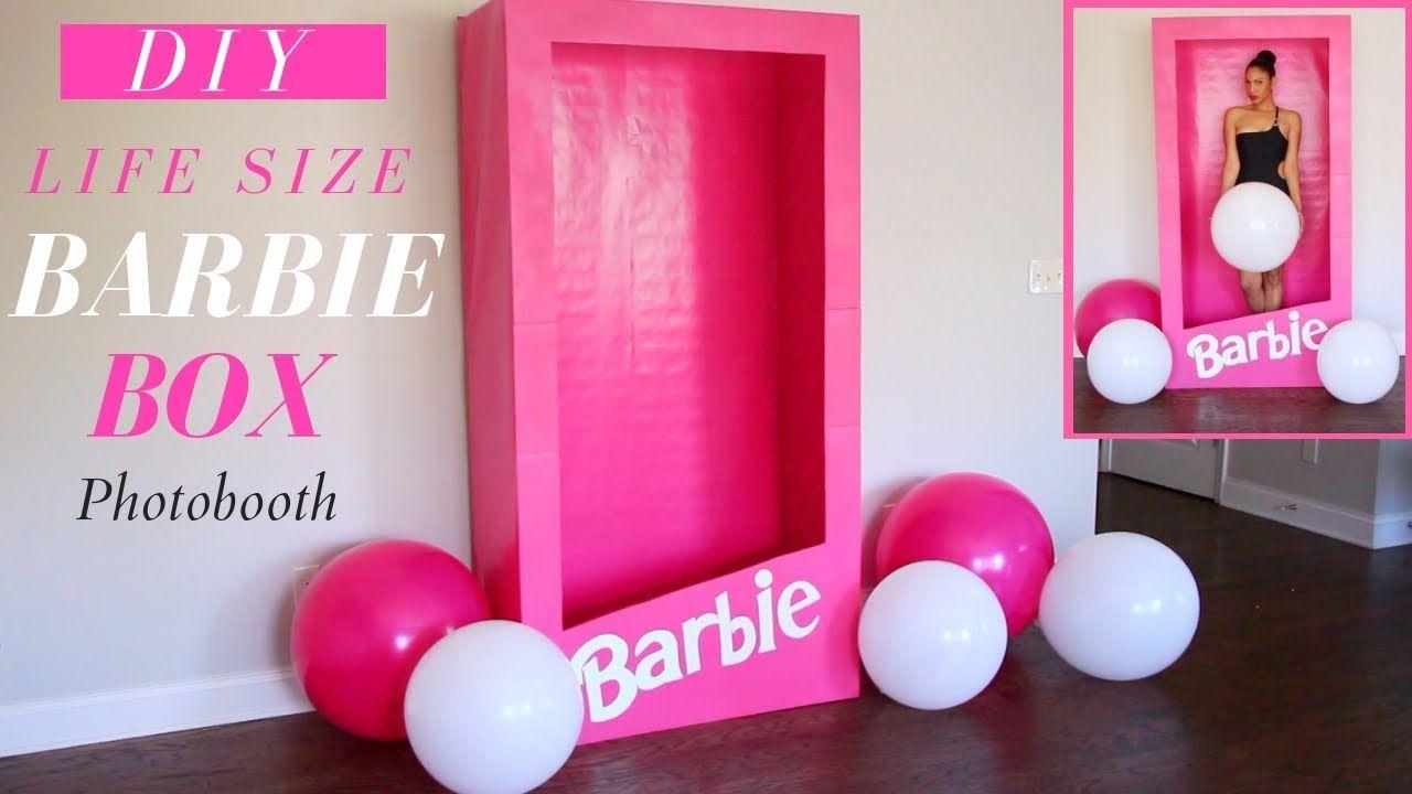 Life Size Barbie Box Barbie Box Photo Booth Diy Barbie Party Decor Foam Core Board Made Into A Barbi Barbie Party Decorations Barbie Theme Party Barbie Box