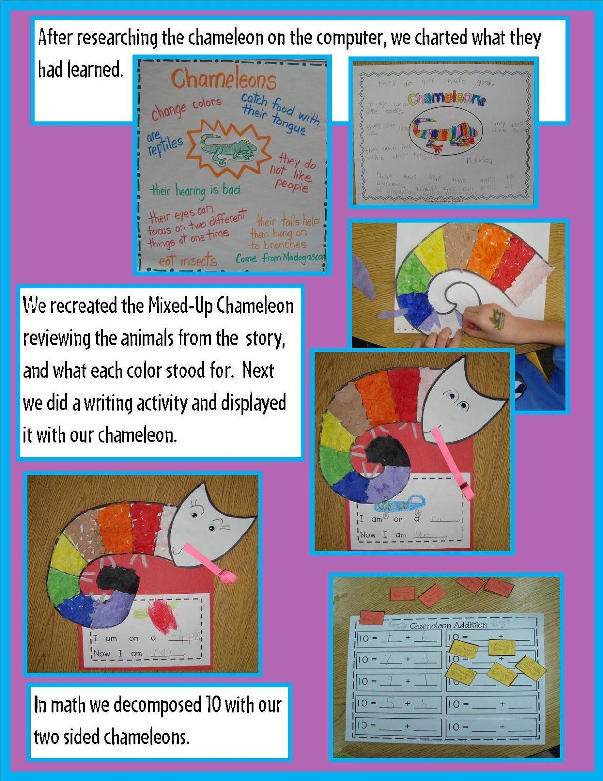 mixed up chameleon writing activity
