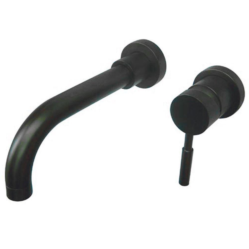 Kingston Brass Wall-Mount Single-Handle Vessel Bathroom Faucet in ...