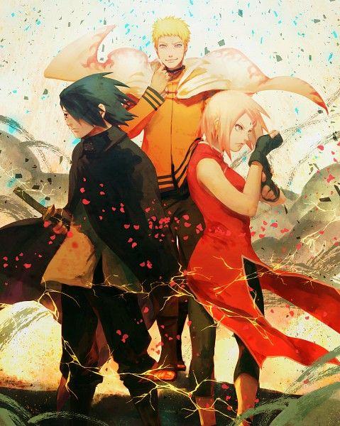Uzumaki Naruto Hokage Uchiha Sasuke Haruno Sakura Team 7 Naruto