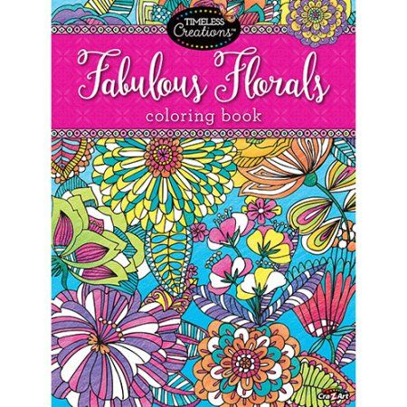 Cra Z Art Timeless Creations Fabulous Florals Coloring Book