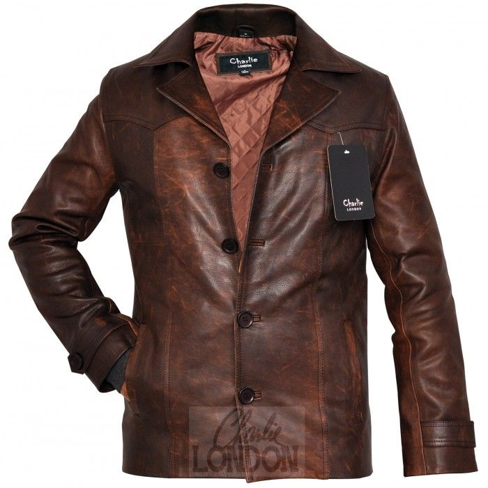 Men s Heist Antique Vintage Brown Leather Jacket - Dirty Harry. Get Carter.  Carlito Brigante. There s one thing these protagonists all had in common. 3c20ecf1f