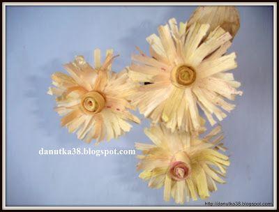 Moje Cuda Cudenka Jak Zrobic Kwiaty Z Lisci Kukurydzy Kursiki Crafts Fruit