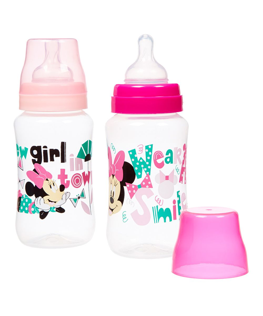 Minnie Mouse 11 Oz Bottle Set Of Two Baby Bottles Baby Minnie