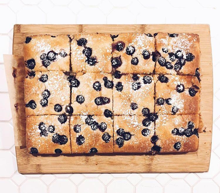 Blueberry Lemon Cake vegan HalfPeach Vegan Bakery