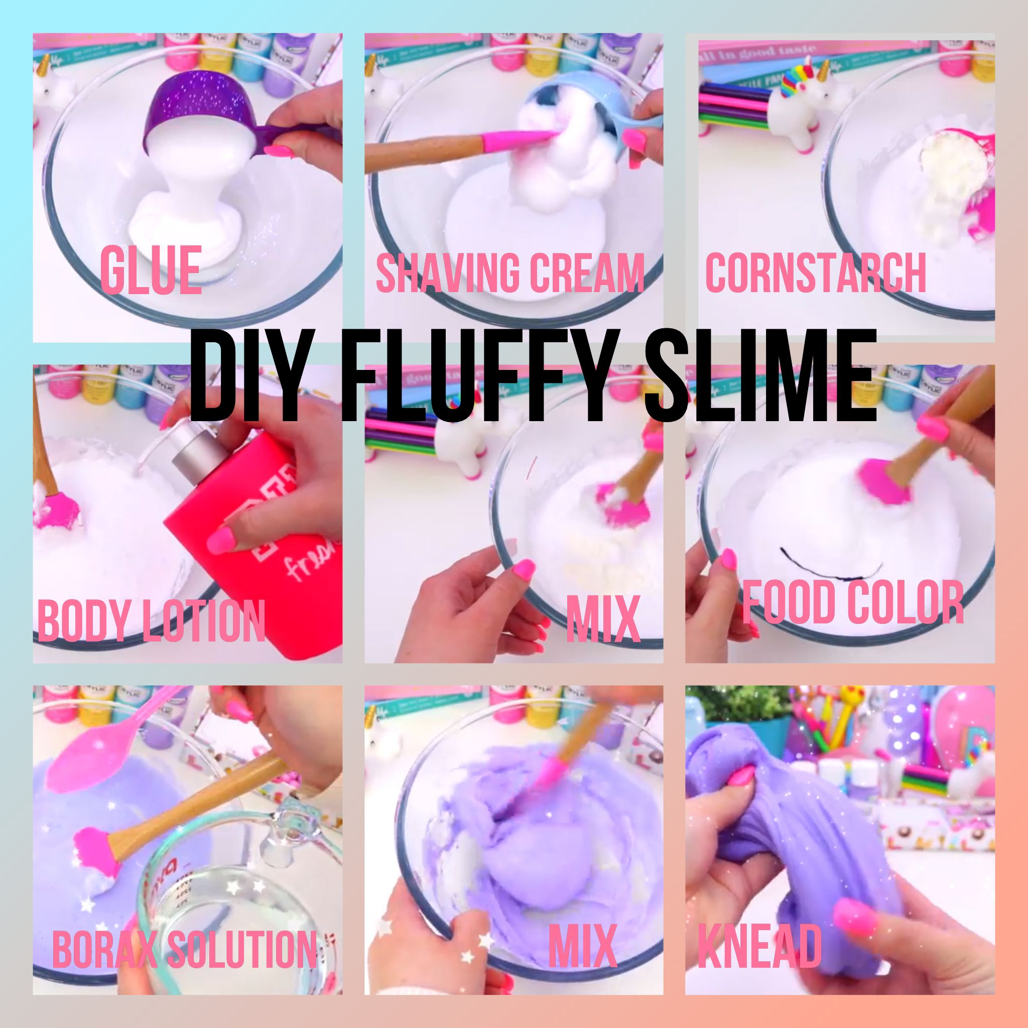 Diy Fluffy Slime By Gillian Bower On Youtube @gillian_bower On Instagram!  Pin Edited