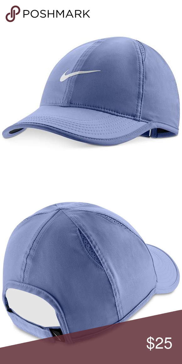 9800ee82ad4 Womens Nike Featherlight Cap Hat Purple Grey OS This Nike Women s tennis cap  features mesh panels