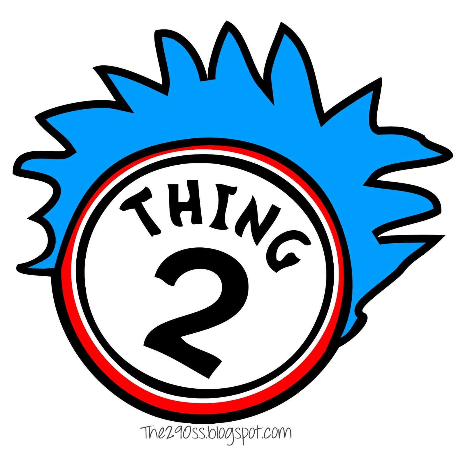 the290ss thing one and thing two cupcakes the cat in the hat rh pinterest com thing one and thing two clip art free thing one and thing two clipart