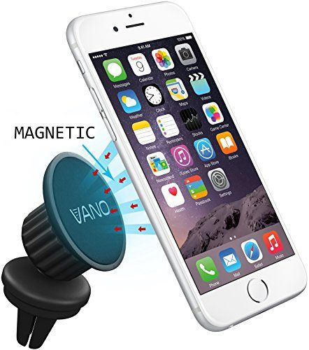 Vano Magnetic Car Air Vent Phone Mount - Fits Any Air Vent and Smartphone - Super Strong Grip - Maximum Viewing Flexibility